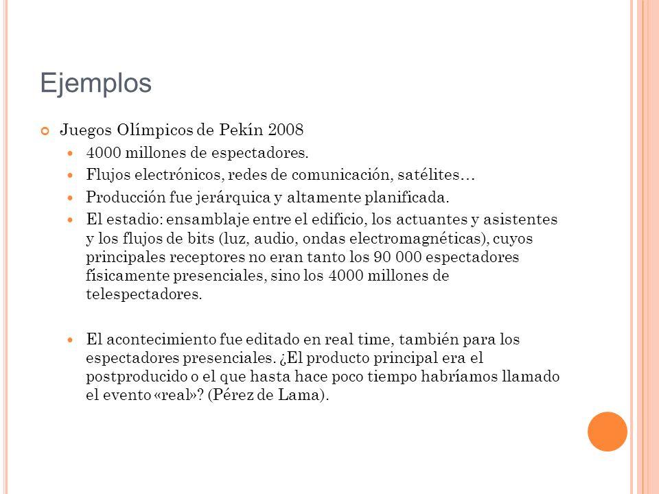 Ejemplos Juegos Olímpicos de Pekín 2008 4000 millones de espectadores.
