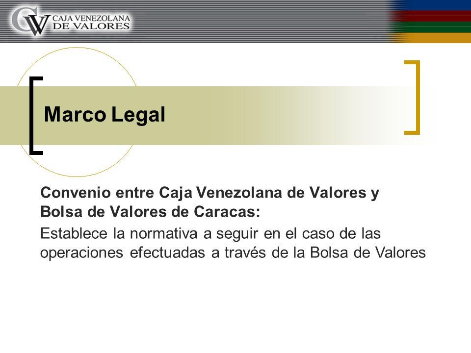 Marco Legal Convenio entre Caja Venezolana de Valores y