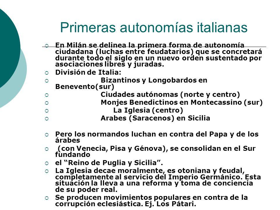 Primeras autonomías italianas