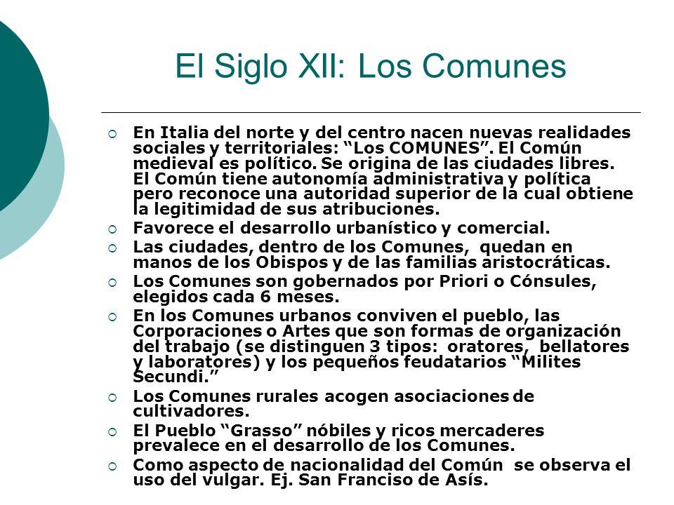 El Siglo XII: Los Comunes
