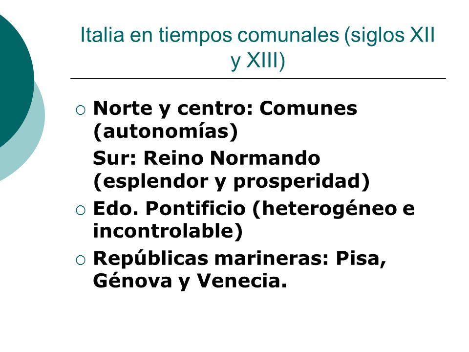 Italia en tiempos comunales (siglos XII y XIII)