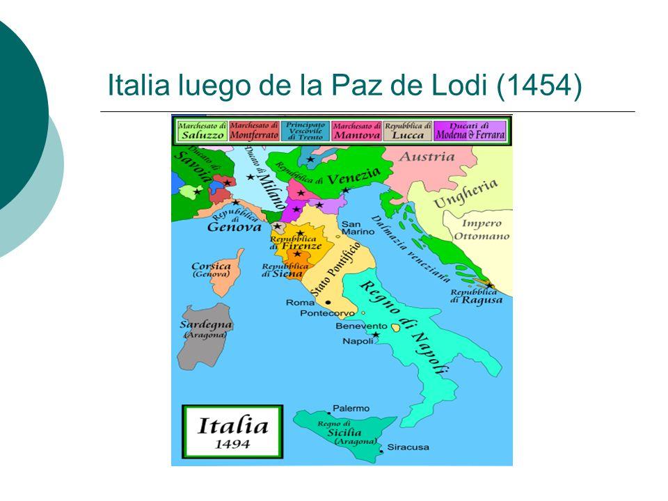 Italia luego de la Paz de Lodi (1454)