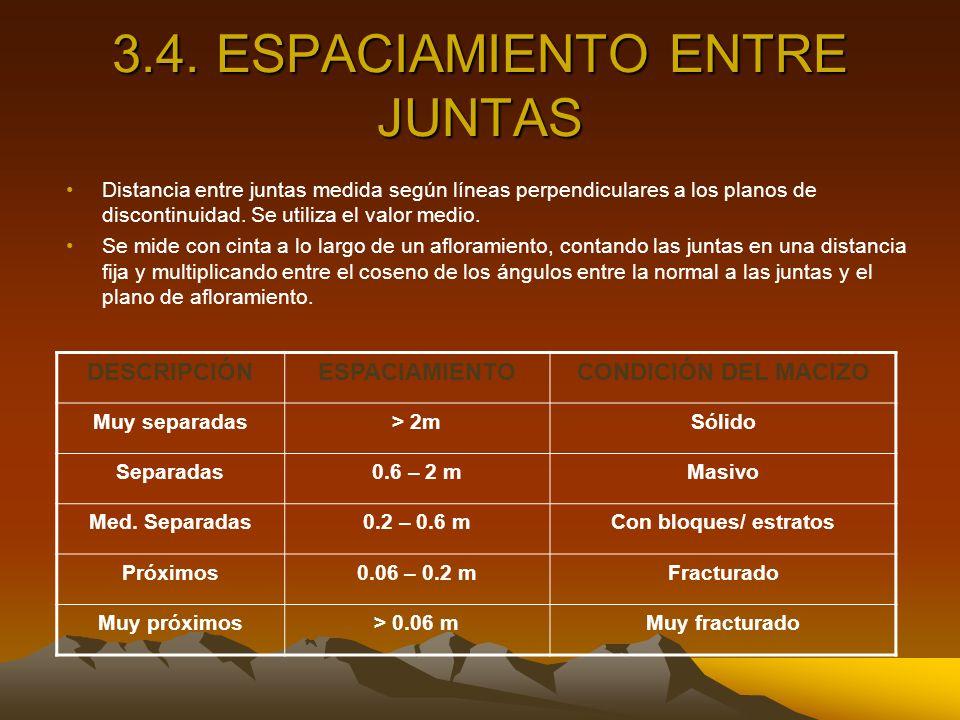 3.4. ESPACIAMIENTO ENTRE JUNTAS