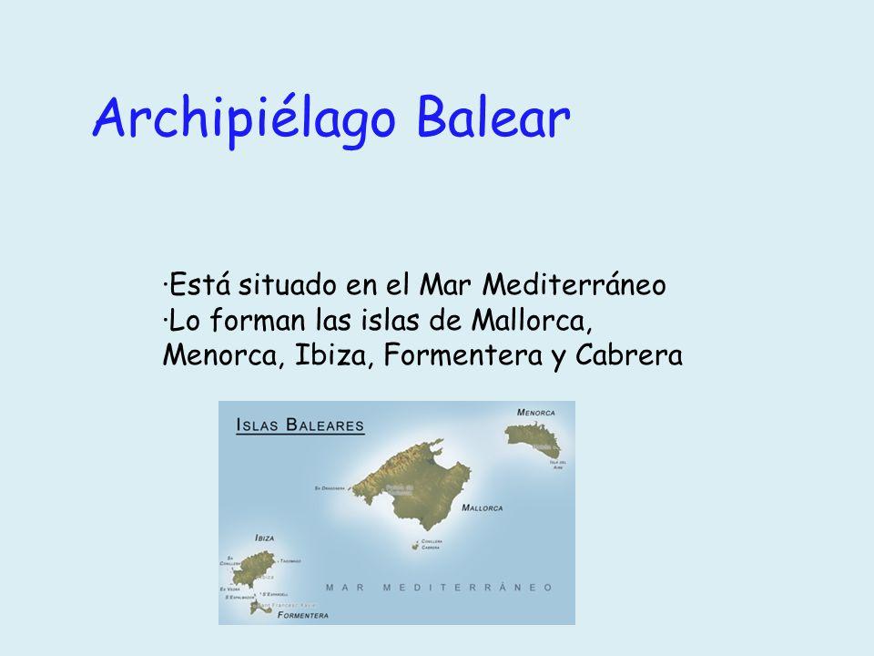 Archipiélago Balear ·Está situado en el Mar Mediterráneo