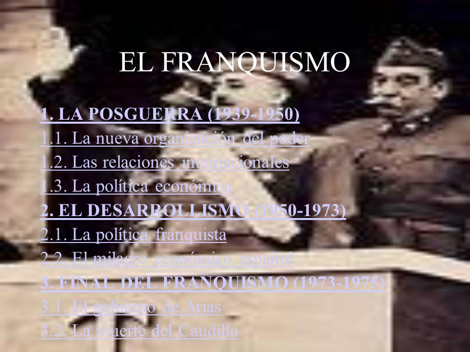 EL FRANQUISMO 1. LA POSGUERRA (1939-1950)