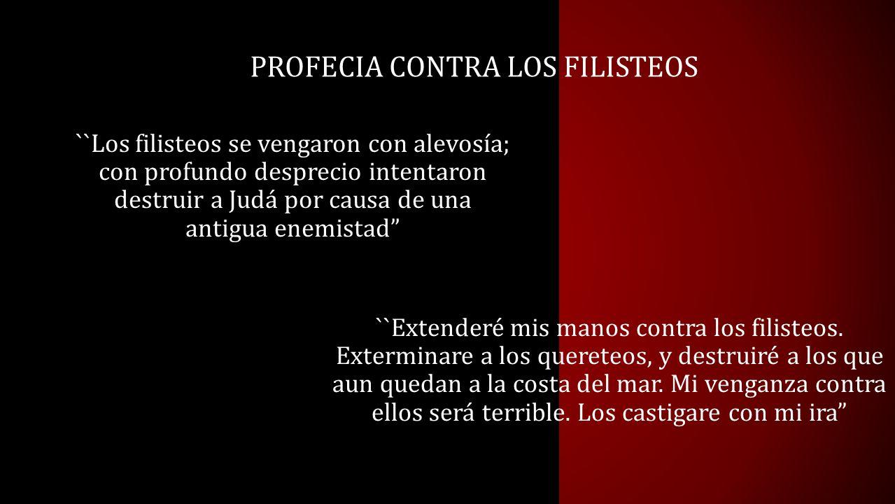 PROFECIA CONTRA LOS FILISTEOS