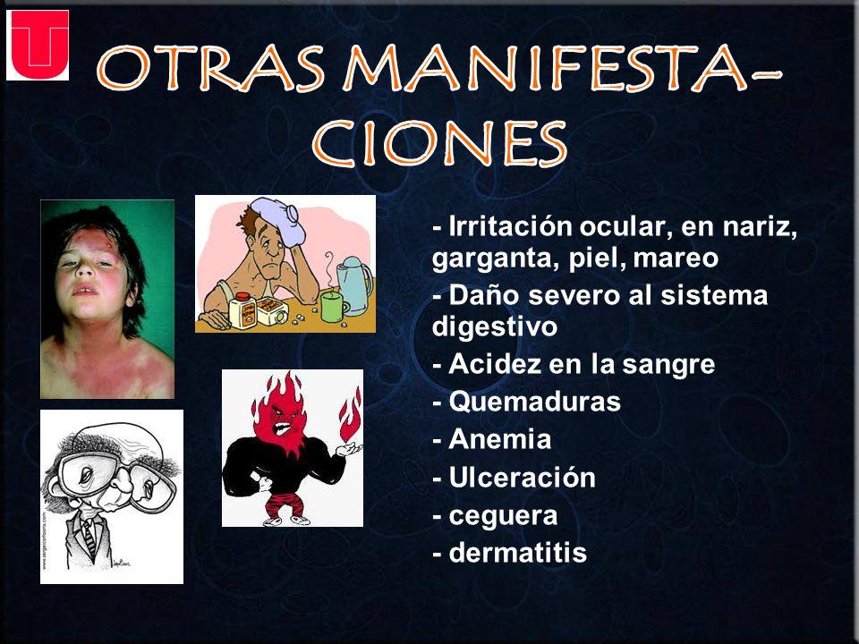 OTRAS MANIFESTA- CIONES