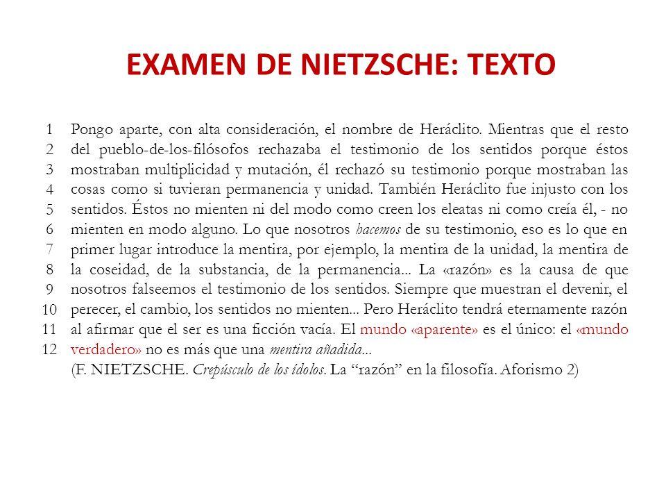 EXAMEN DE NIETZSCHE: TEXTO