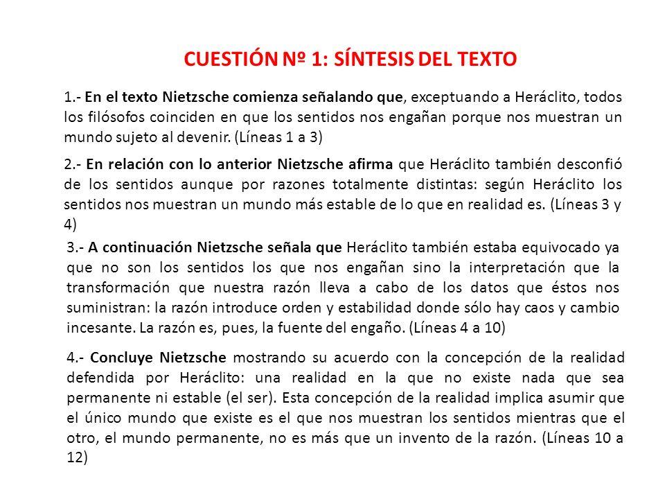 CUESTIÓN Nº 1: SÍNTESIS DEL TEXTO