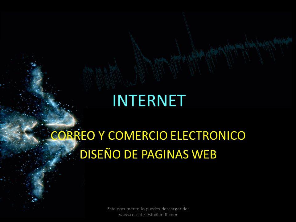 CORREO Y COMERCIO ELECTRONICO DISEÑO DE PAGINAS WEB