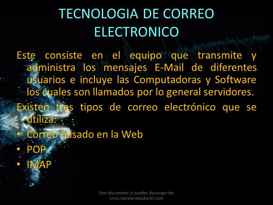 TECNOLOGIA DE CORREO ELECTRONICO