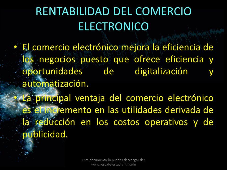 RENTABILIDAD DEL COMERCIO ELECTRONICO