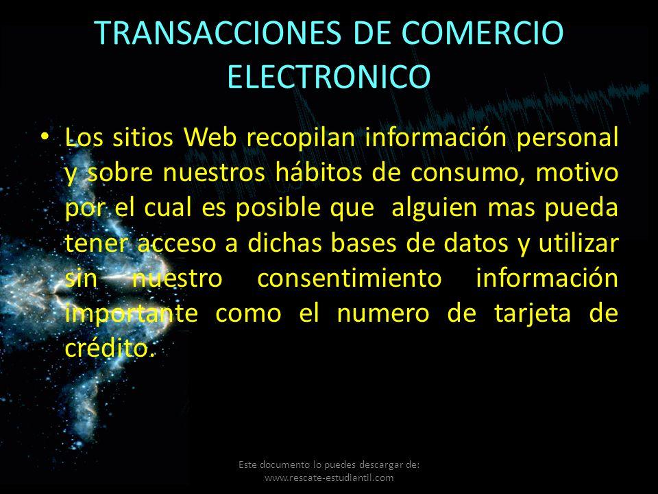 TRANSACCIONES DE COMERCIO ELECTRONICO
