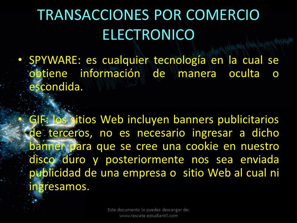 TRANSACCIONES POR COMERCIO ELECTRONICO