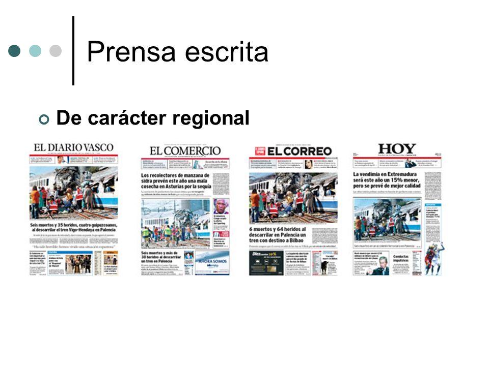 Prensa escrita De carácter regional