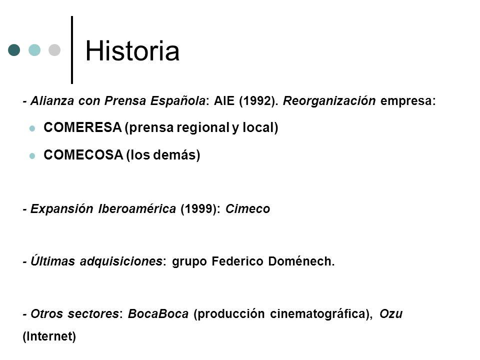 Historia COMERESA (prensa regional y local) COMECOSA (los demás)