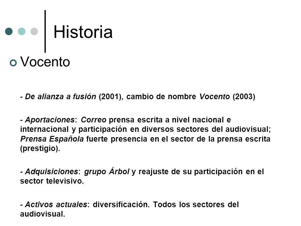 Historia Vocento. - De alianza a fusión (2001), cambio de nombre Vocento (2003)
