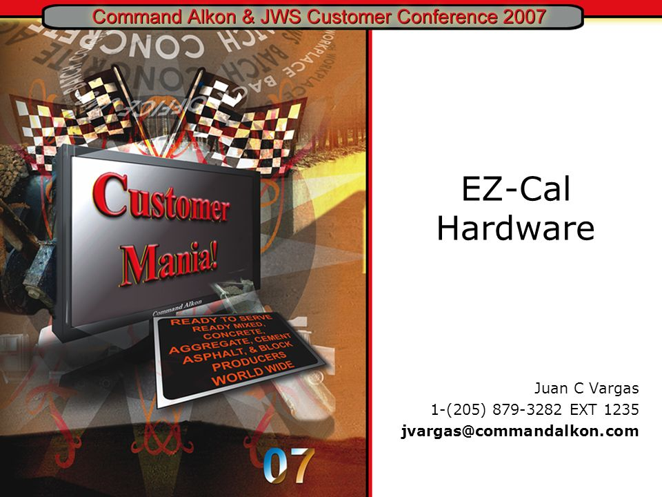 Juan C Vargas 1-(205) 879-3282 EXT 1235 jvargas@commandalkon.com