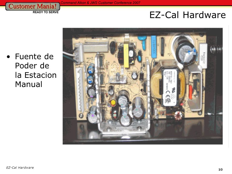 EZ-Cal Hardware Fuente de Poder de la Estacion Manual EZ-Cal Hardware