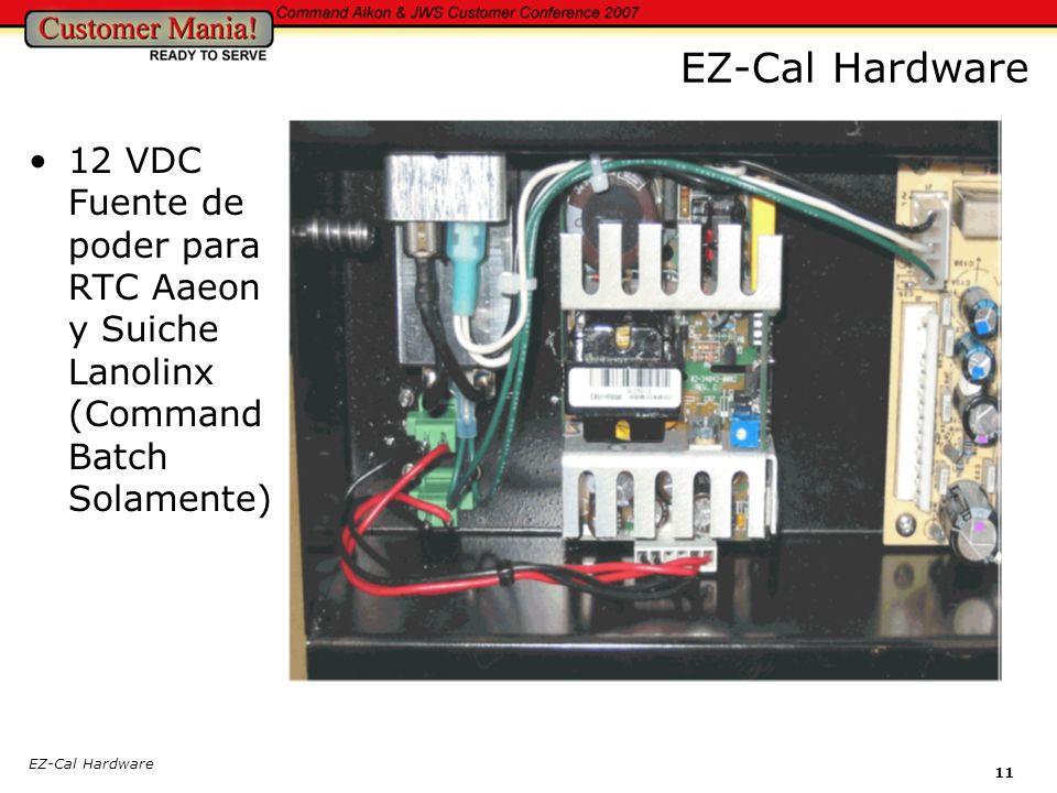 EZ-Cal Hardware 12 VDC Fuente de poder para RTC Aaeon y Suiche Lanolinx (Command Batch Solamente) EZ-Cal Hardware.