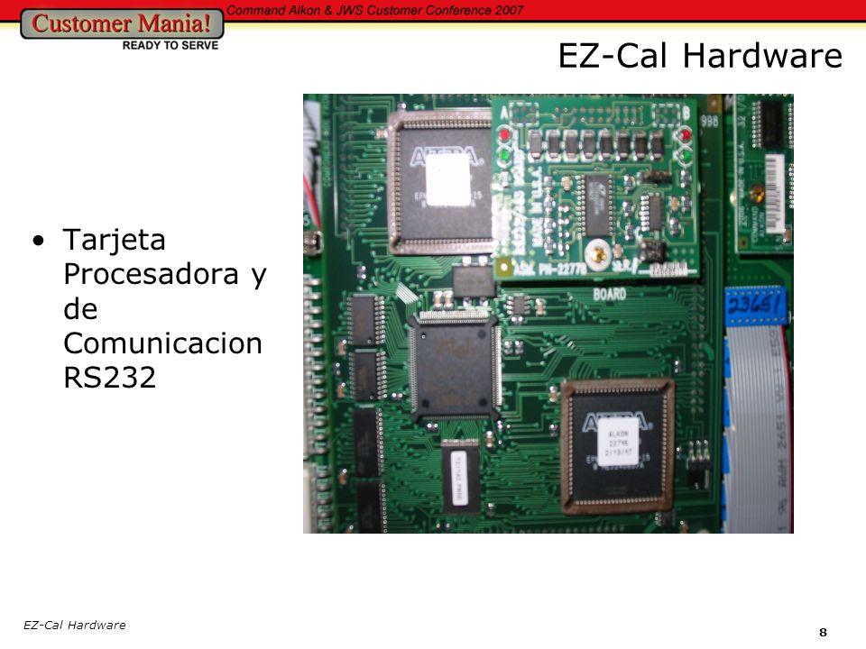 EZ-Cal Hardware Tarjeta Procesadora y de Comunicacion RS232