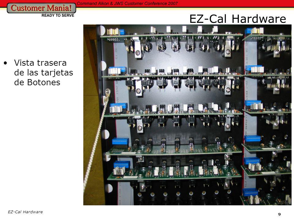 EZ-Cal Hardware Vista trasera de las tarjetas de Botones