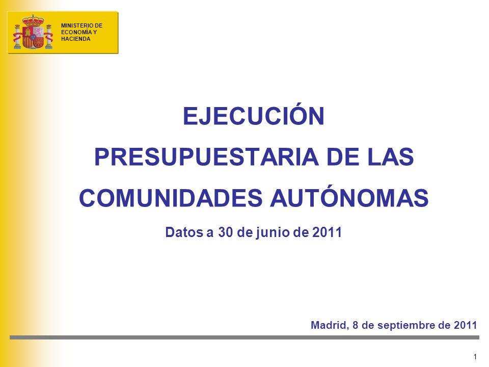 EJECUCIÓN PRESUPUESTARIA DE LAS COMUNIDADES AUTÓNOMAS