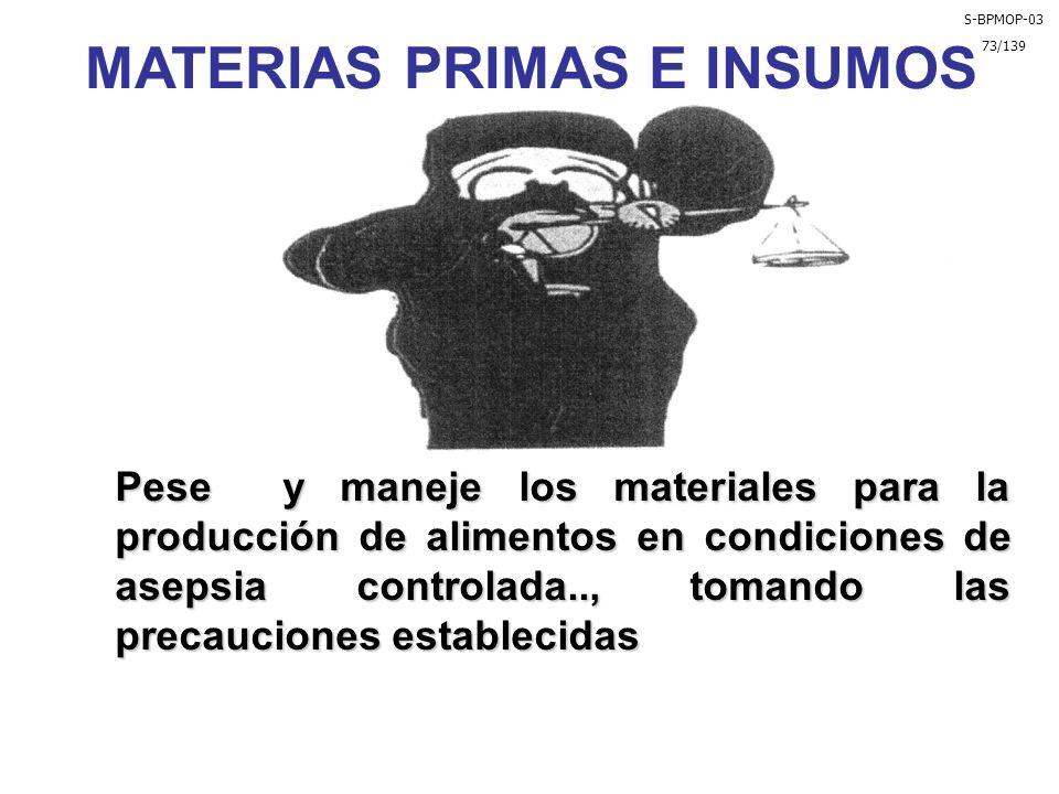 MATERIAS PRIMAS E INSUMOS