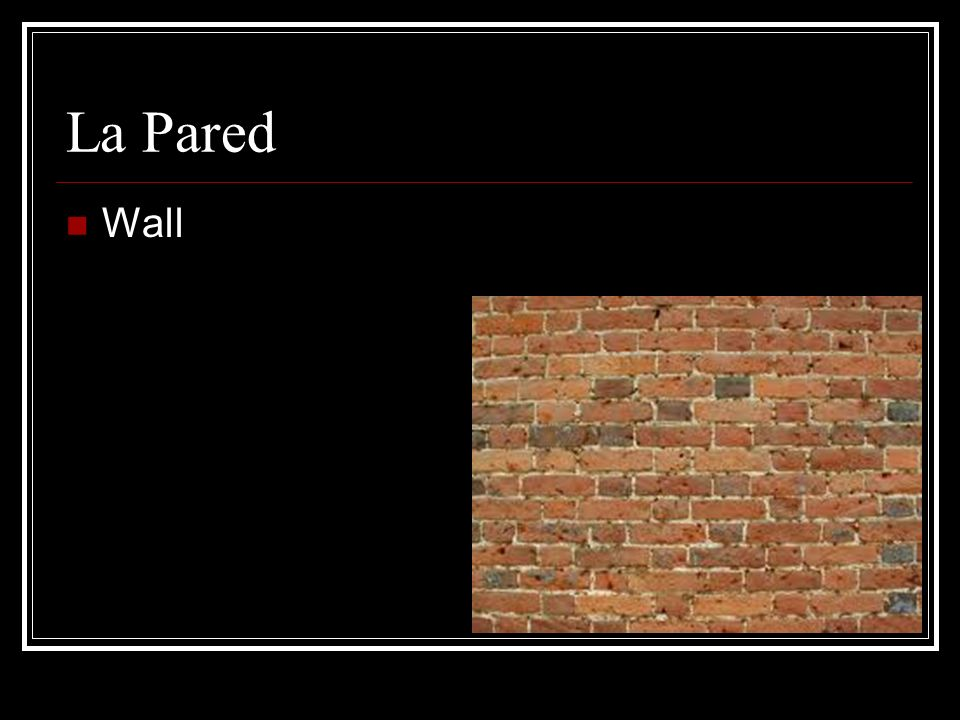 La Pared Wall