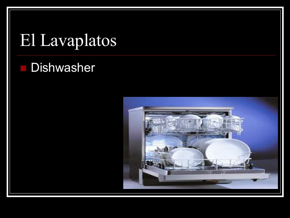 El Lavaplatos Dishwasher