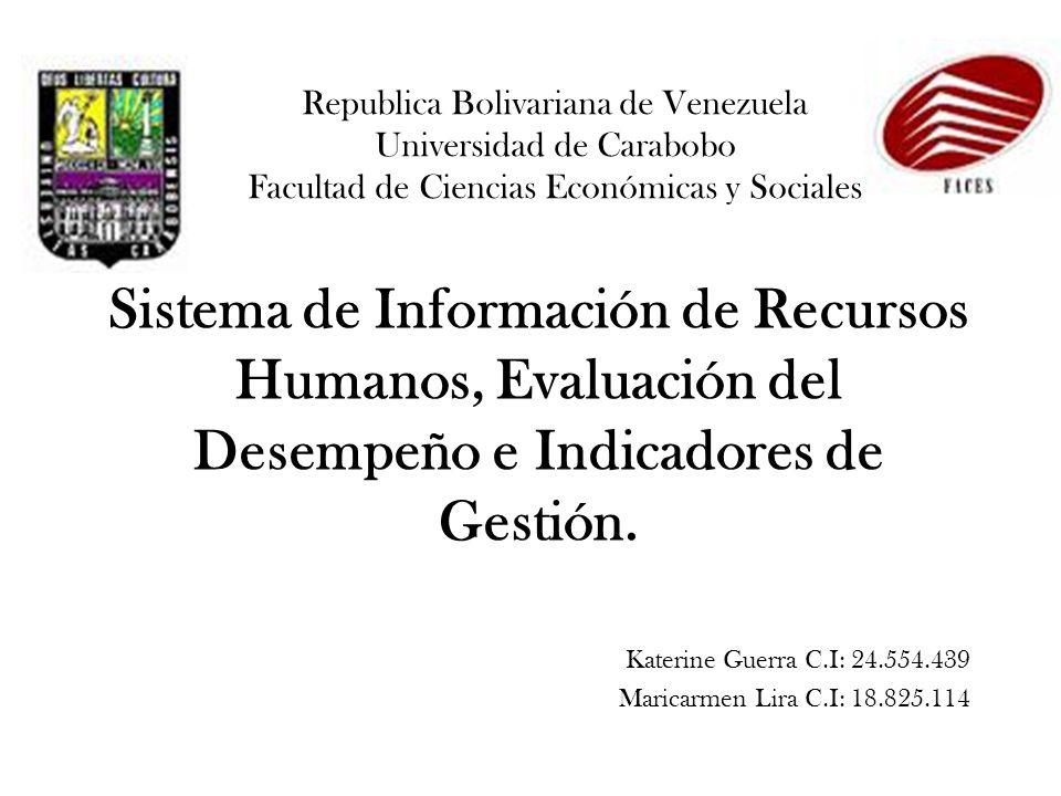 Republica Bolivariana de Venezuela Universidad de Carabobo Facultad de Ciencias Económicas y Sociales