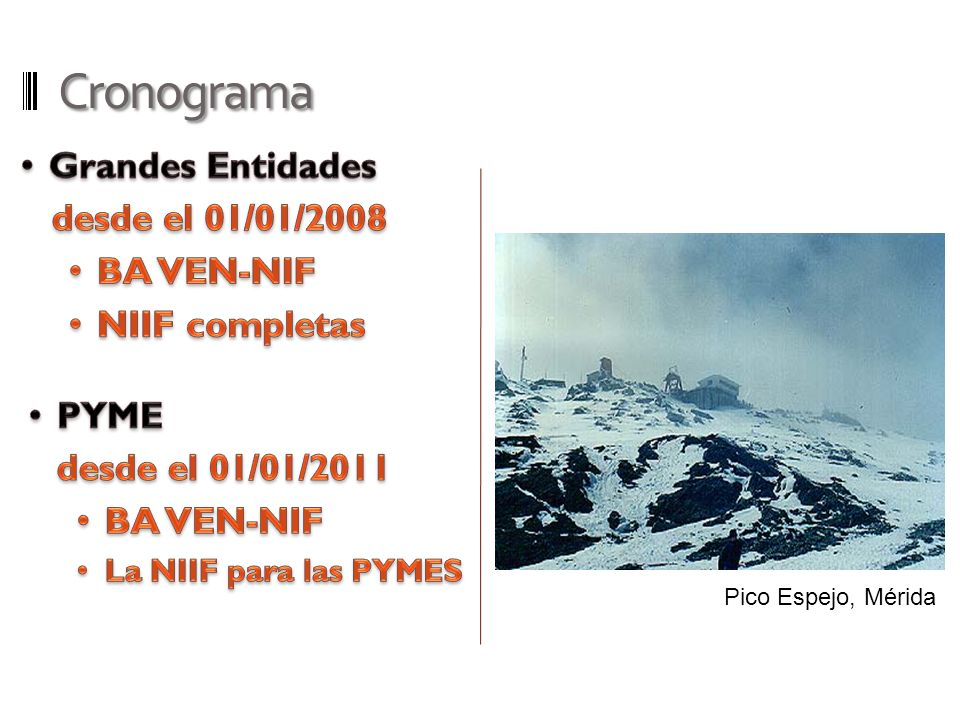 Cronograma Grandes Entidades desde el 01/01/2008 BA VEN-NIF