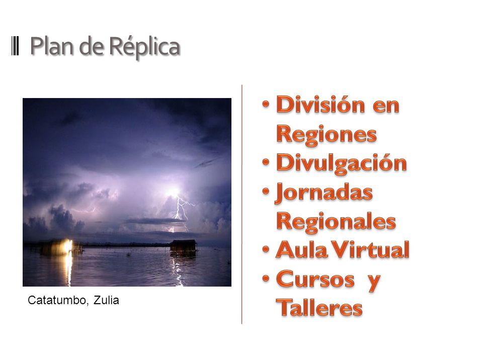 Plan de Réplica División en Regiones Divulgación Jornadas Regionales