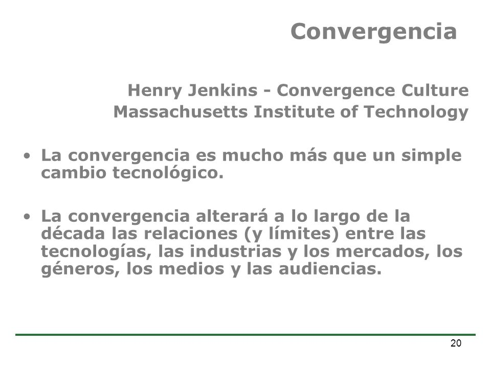 Convergencia Henry Jenkins - Convergence Culture