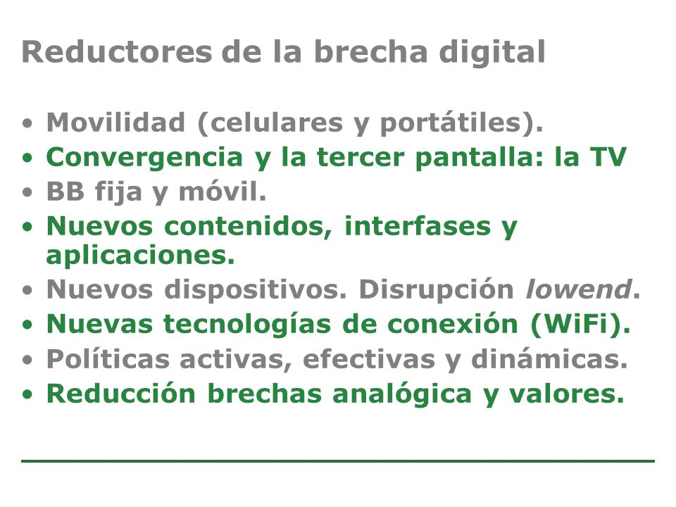 Reductores de la brecha digital