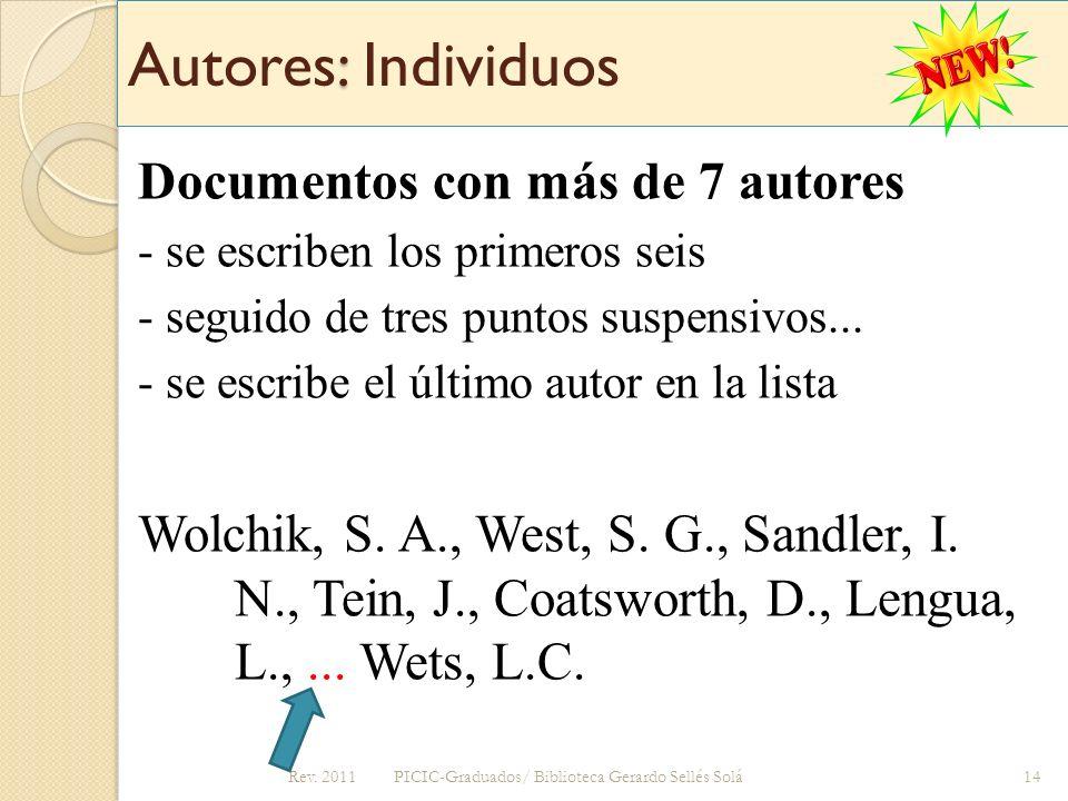 Autores: Individuos Documentos con más de 7 autores