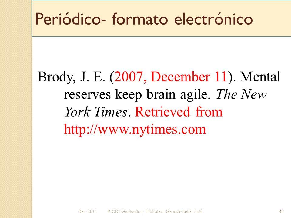 Periódico- formato electrónico