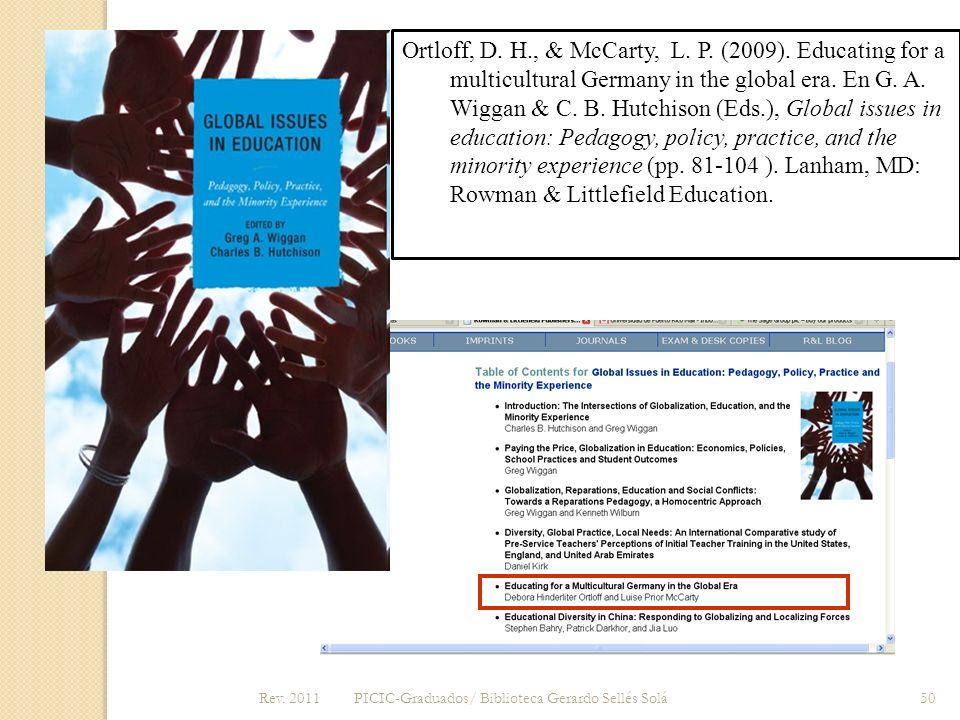 Ortloff, D. H. , & McCarty, L. P. (2009)
