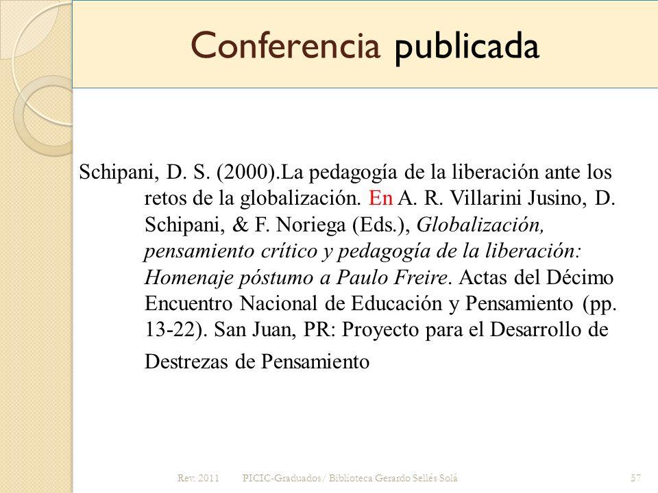 Conferencia publicada