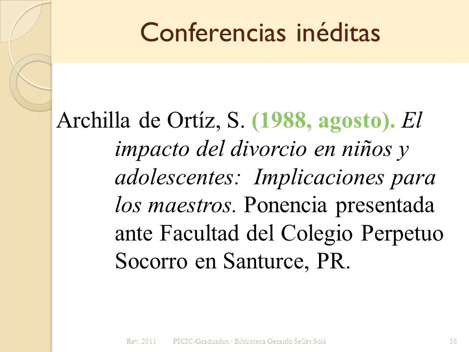 Conferencias inéditas