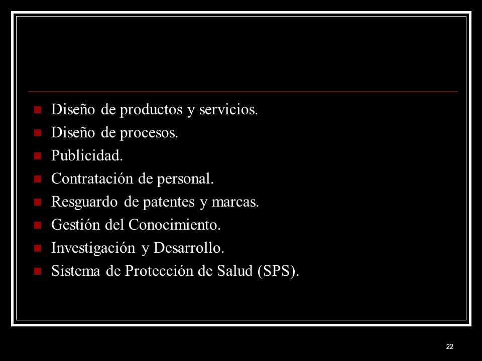 Diseño de productos y servicios.