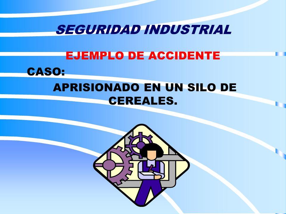 EJEMPLO DE ACCIDENTE CASO: APRISIONADO EN UN SILO DE CEREALES.
