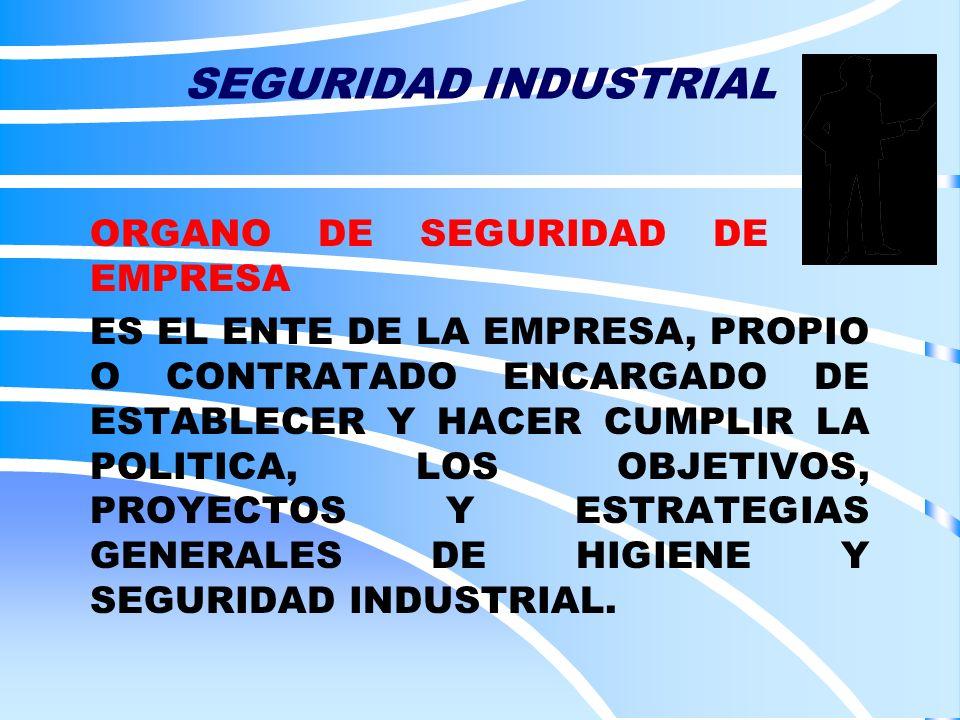SEGURIDAD INDUSTRIAL ORGANO DE SEGURIDAD DE LA EMPRESA