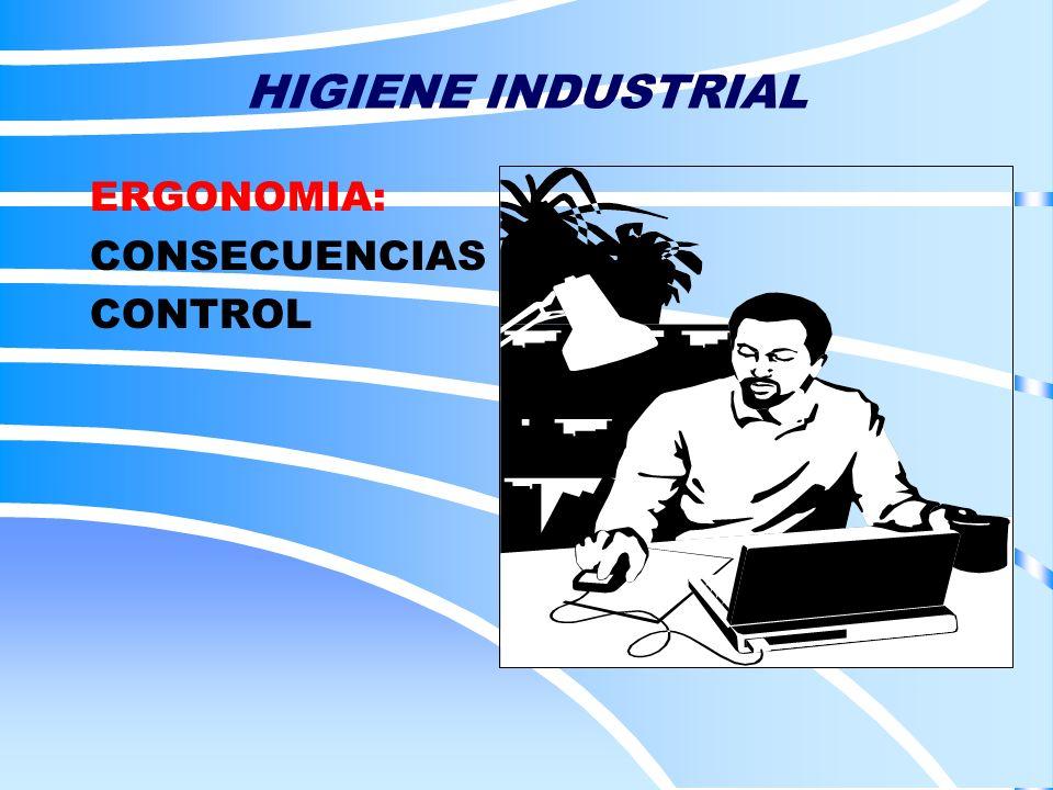 ERGONOMIA: CONSECUENCIAS CONTROL