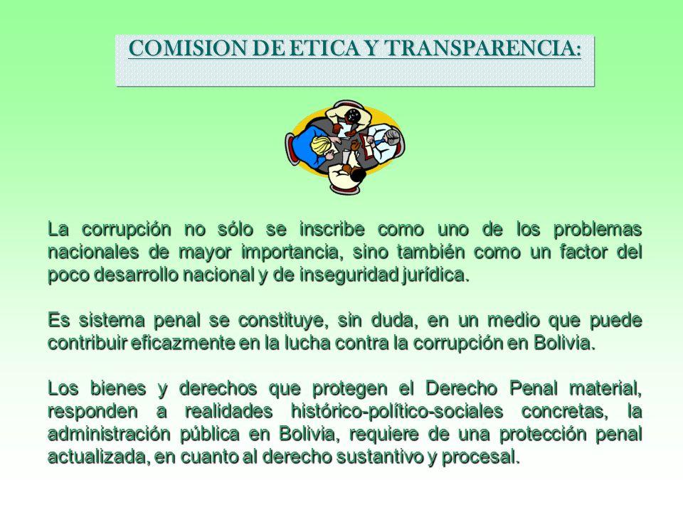 COMISION DE ETICA Y TRANSPARENCIA: