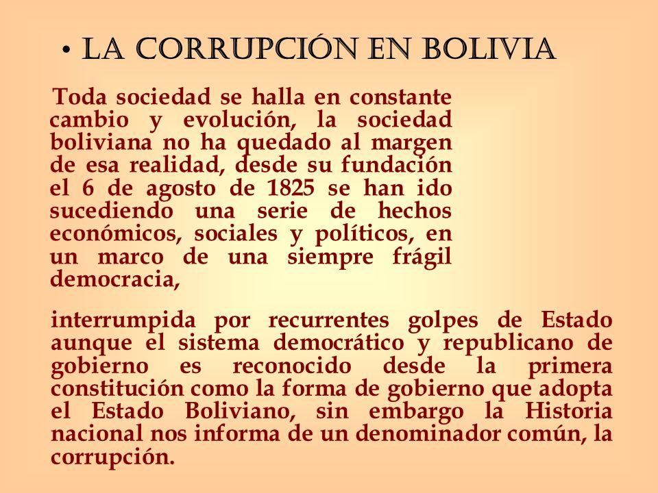 La corrupción en Bolivia