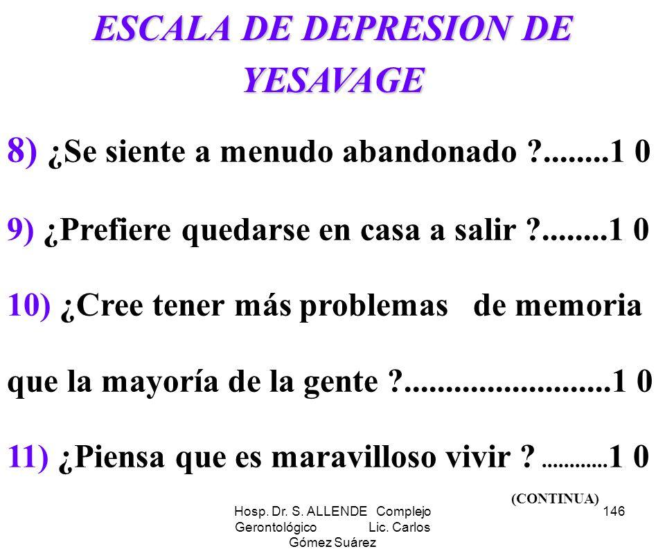 ESCALA DE DEPRESION DE YESAVAGE