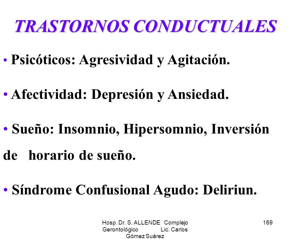 TRASTORNOS CONDUCTUALES