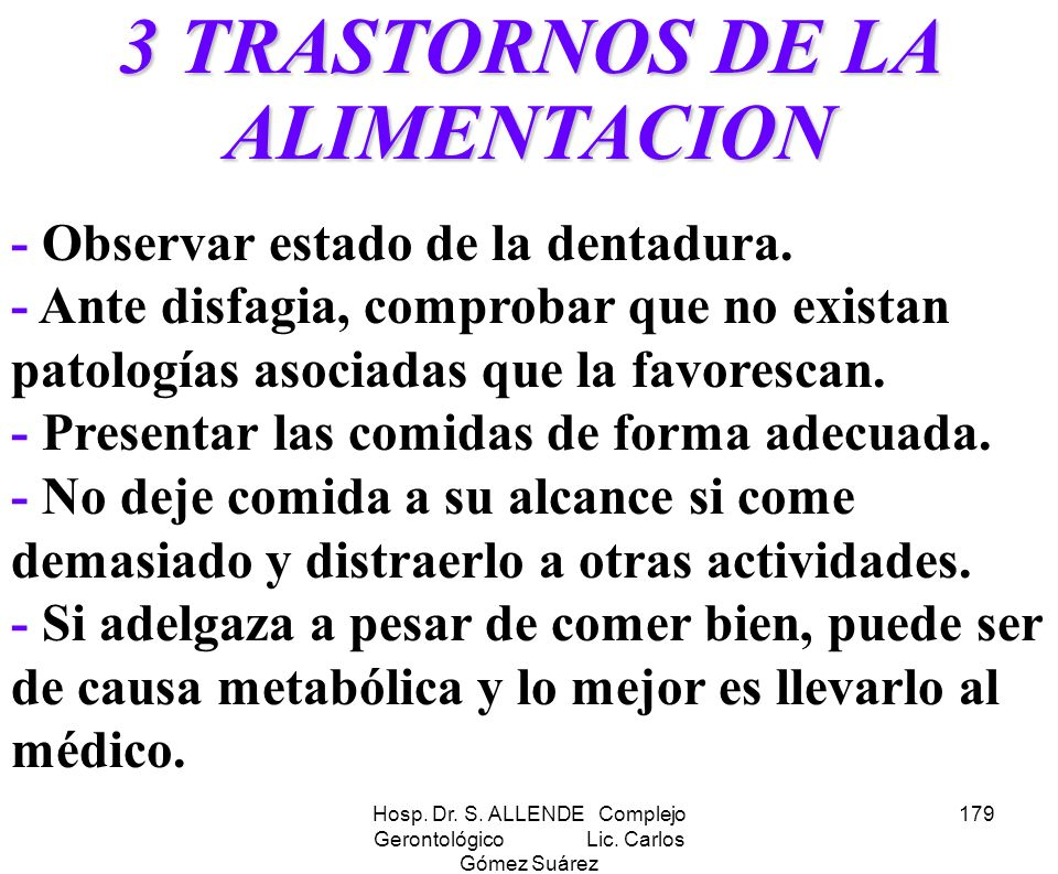 3 TRASTORNOS DE LA ALIMENTACION