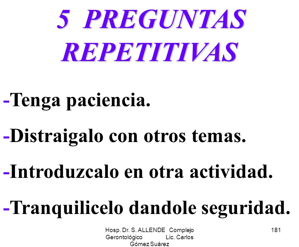5 PREGUNTAS REPETITIVAS